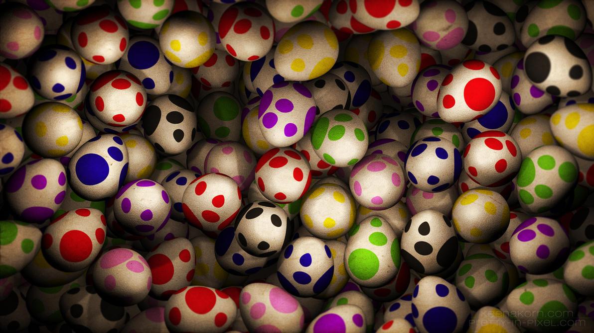 Super Mario Yoshi Eggs by keenakorn