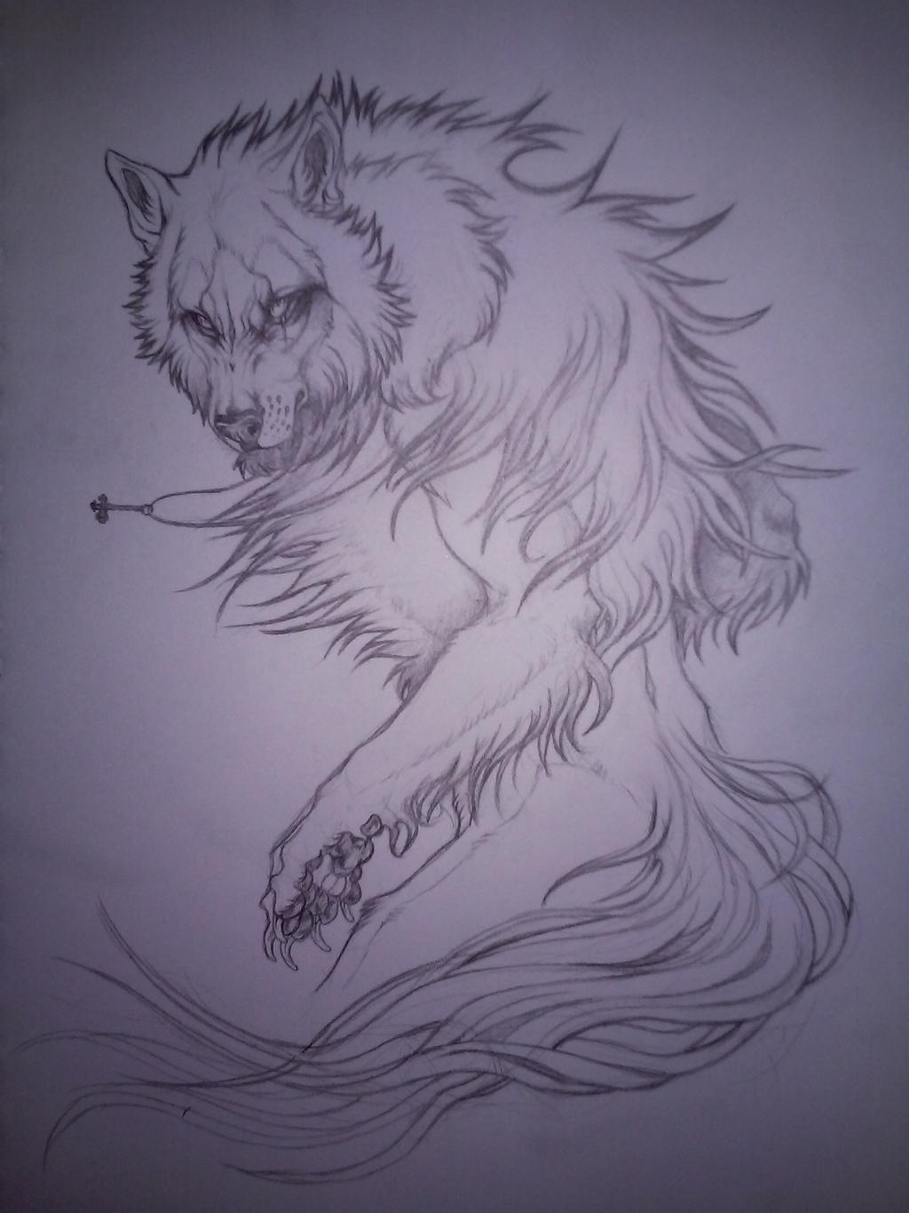 Werewolf sketch by Kay-Ra