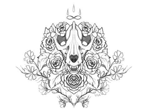 Panda Skull tattoo project