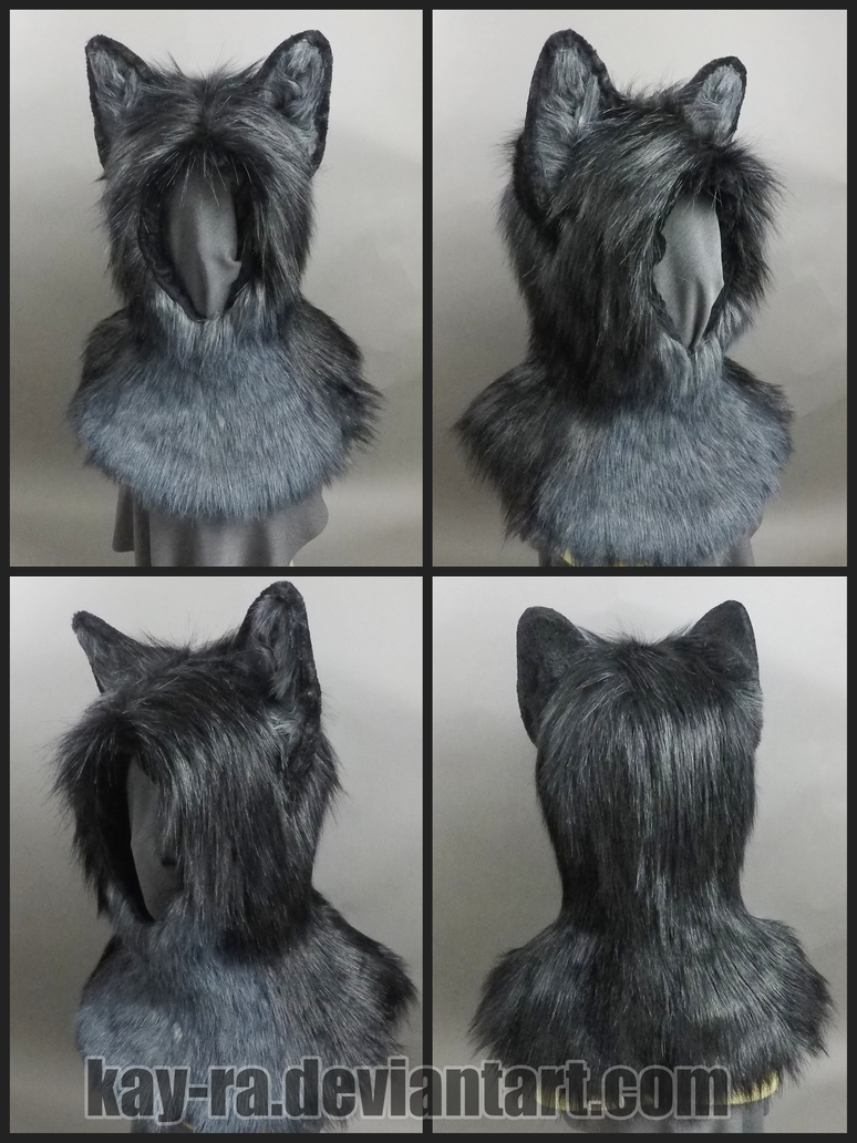 Wolf hood commission by Kay-Ra