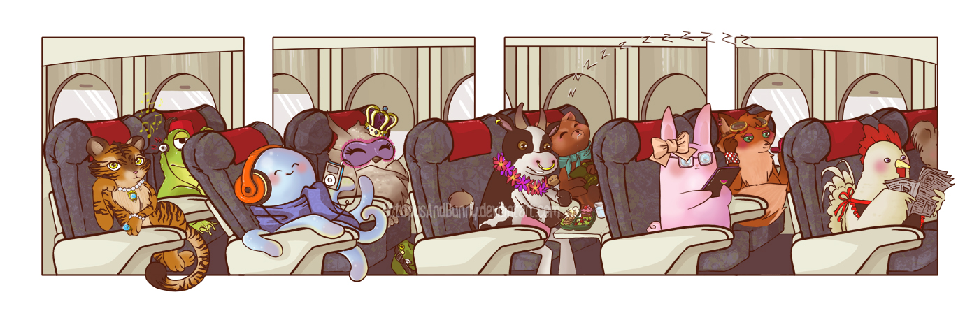 On a Plane by OctopusandBunny