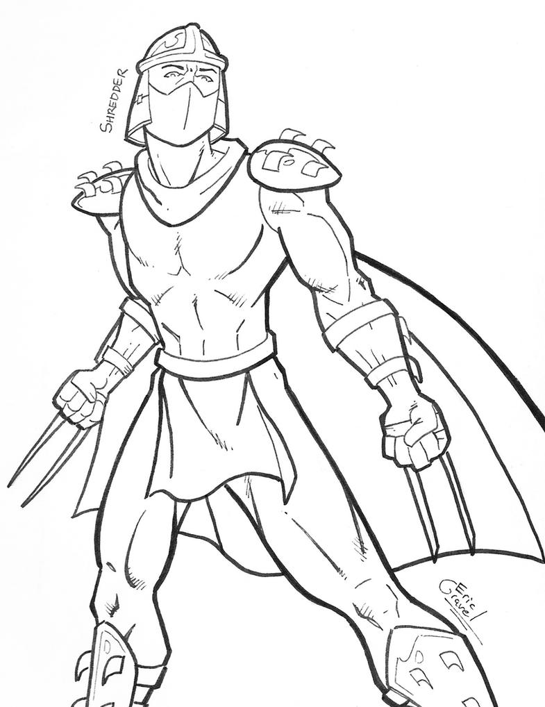 ninja turtles shredder coloring pages