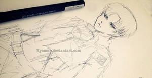 SHINGEKI NO KYOJIN - Levi Sketch