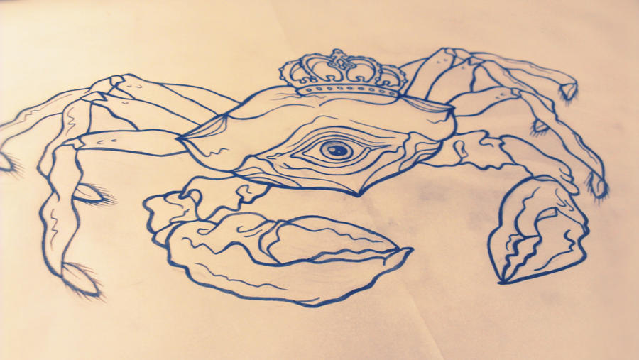 King Crab Drawing King Crab by Ohrloch