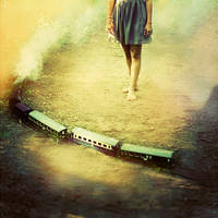 Time goes by like a train by Julie-de-Waroquier