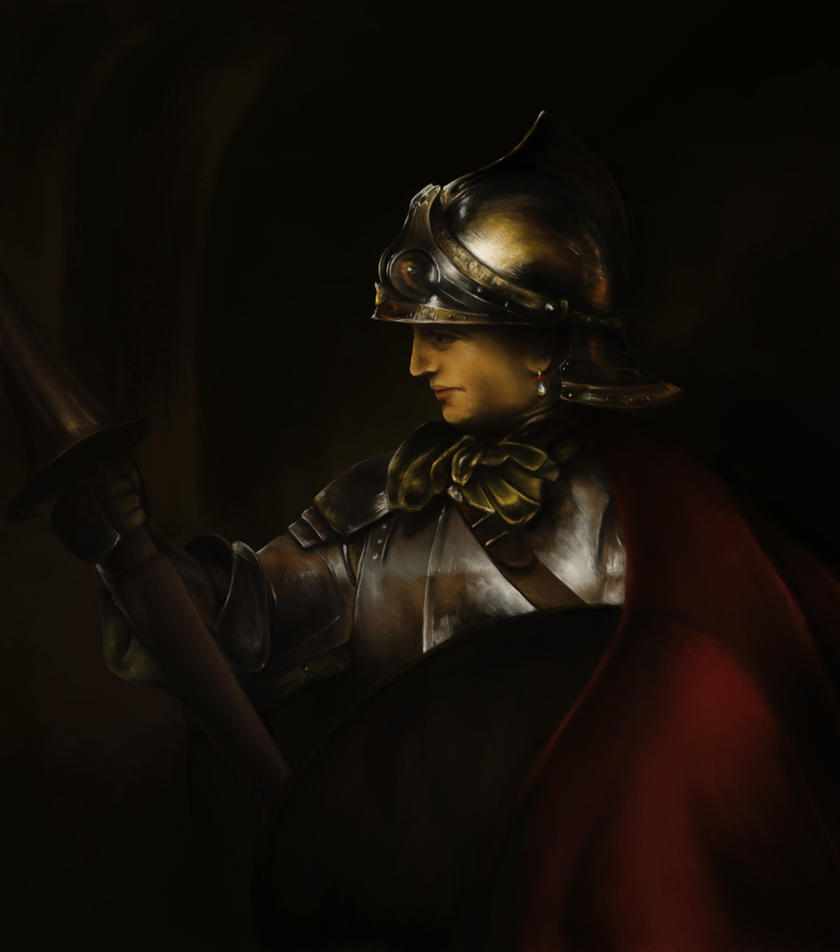 Man in Armor - Rembrandt/Brushwork Study by SethWoll