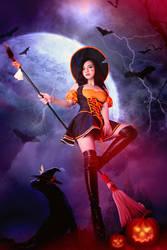 League of Legends nidalee halloween