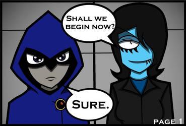 COMIC! Angela training Raven (Teen Titans) 1 by Superboii64