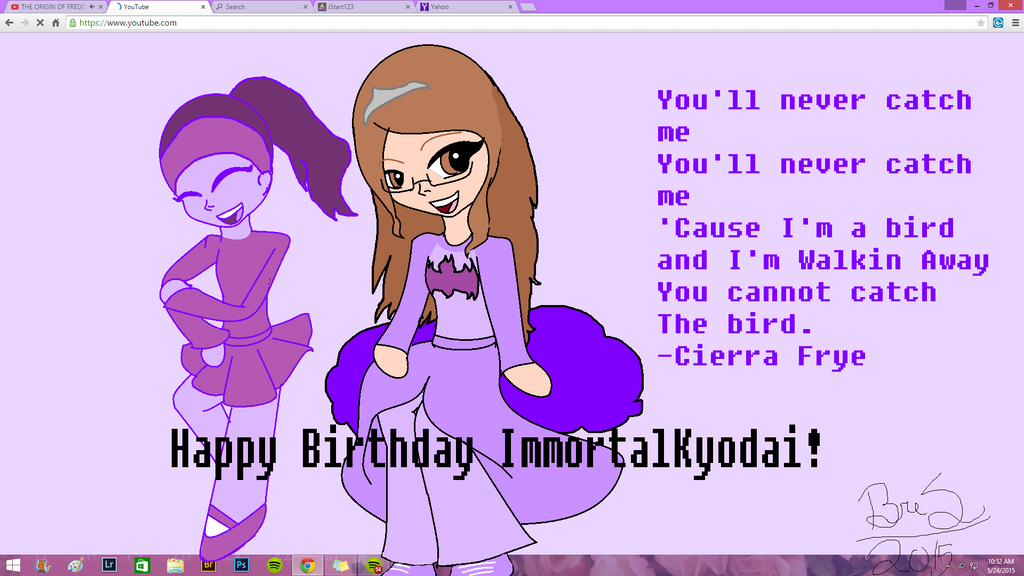 Happy Birthday ImmortalKyodai! by 1DPuppyLoverFOREVER