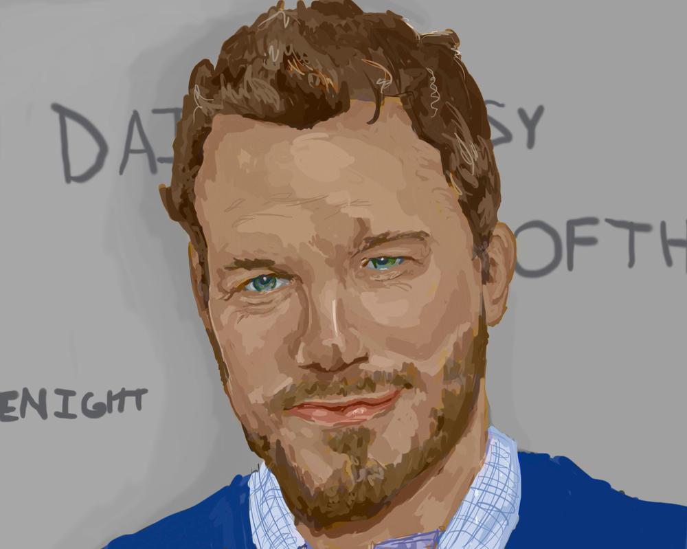 Chris Pratt Portrait by daisyofthenight