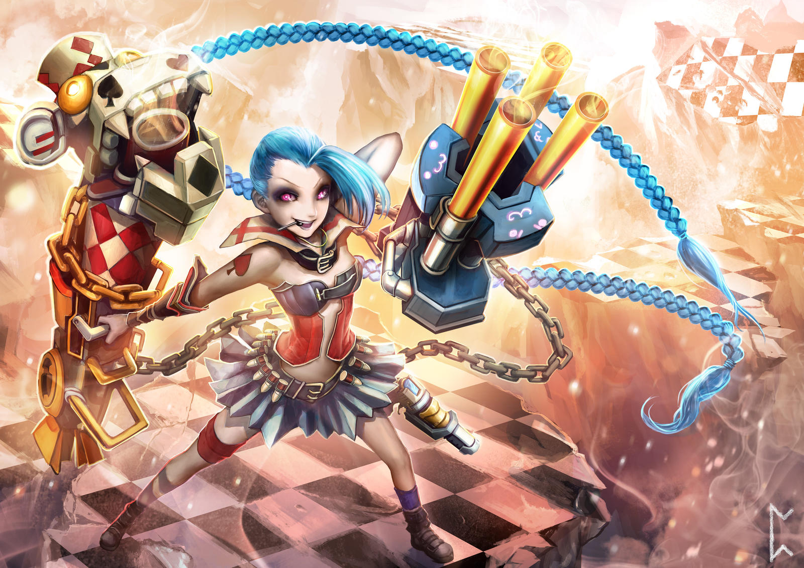 Harlequin Jinx [League of Legends] by Gevurah-Studios