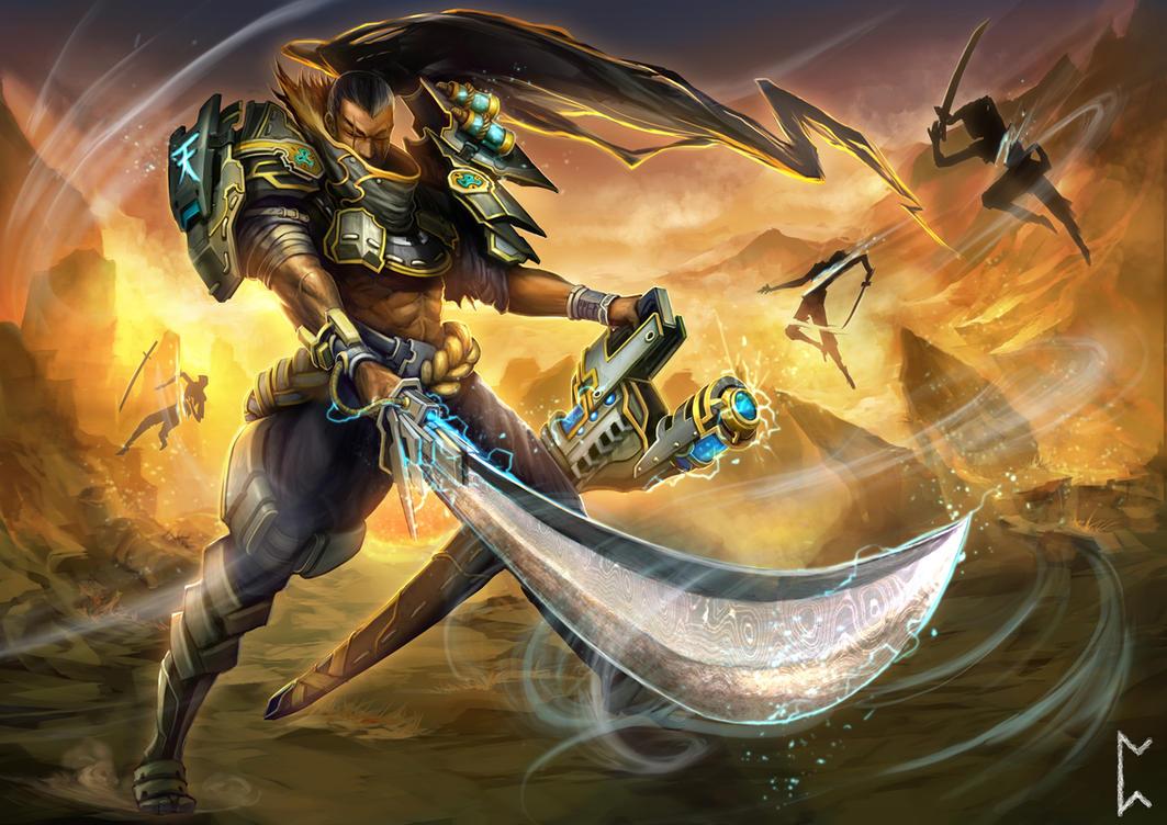 Windthrift Yasuo  League of Legends  Pre-release by Gevurah-StudiosYasuo Splash Art