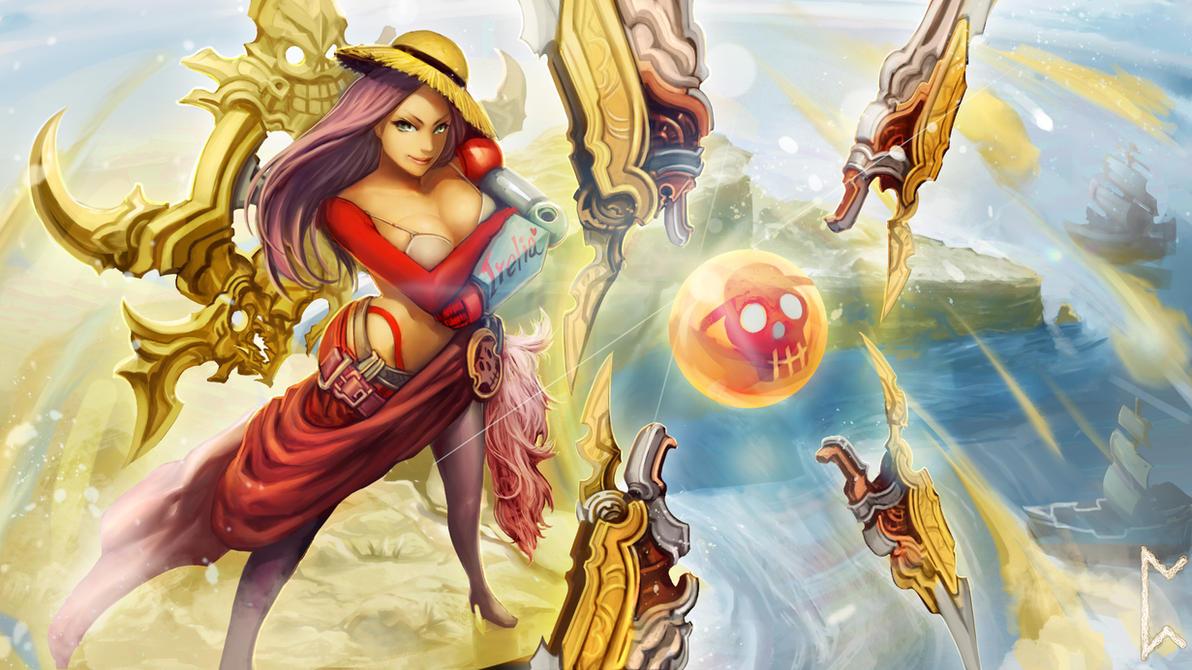 Pirate Queen Irelia skin (League of Legends) by Gevurah-Studios