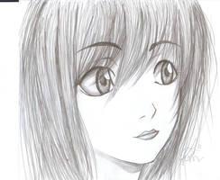 anime girl-- by macswake