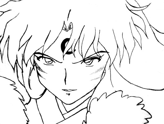 sesshomaru coloring pages-#15
