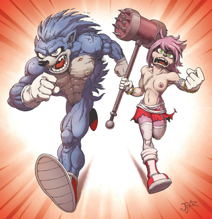 Badass Sonic the Hedgehog by JjAR01