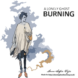 Logo - A Lonely Ghost Burning