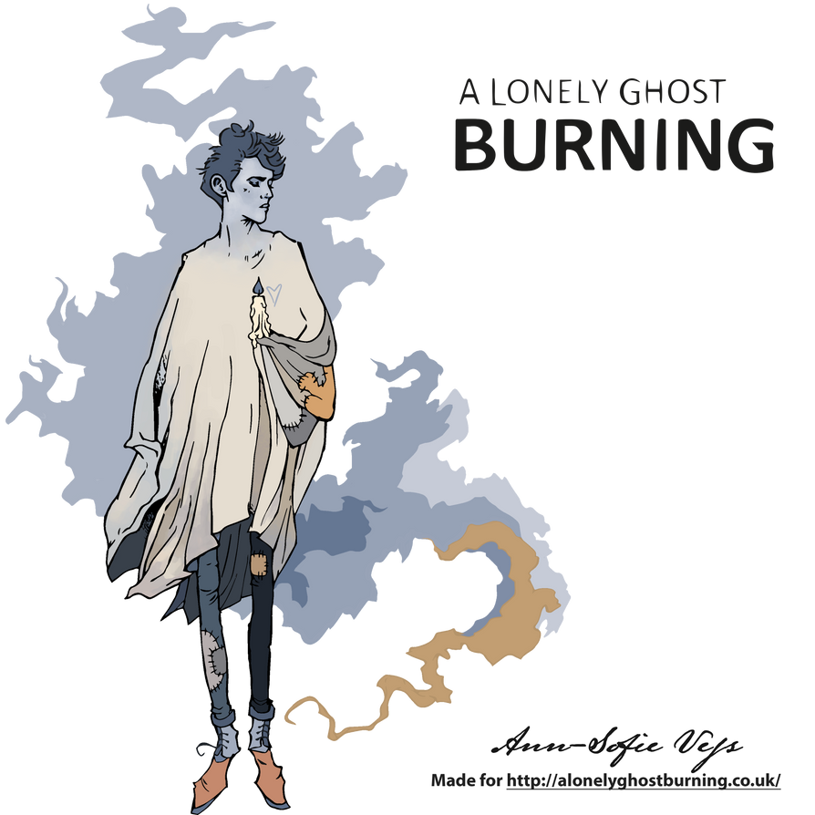 Logo - A Lonely Ghost Burning by AnnSofieVejs