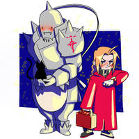 The Elric Brothers by alyssamolina