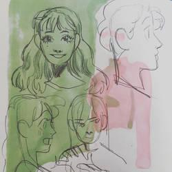scattered doodles by alyssamolina