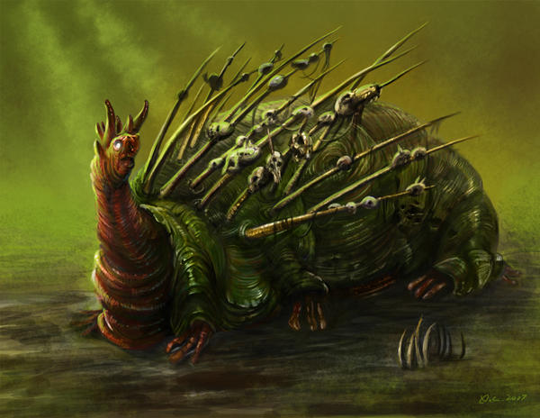 Swamp skull collector by Nightblue-art