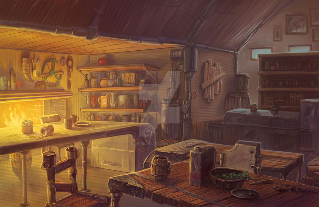 treasure hunter environment2 by Nightblue-art