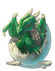 Awww, baby dragon by Nightblue-art