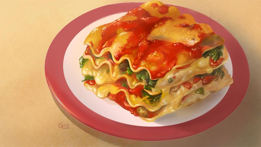 Food - lasagna