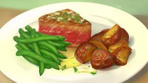 Food - Tuna and Green Beans by Nightblue-art