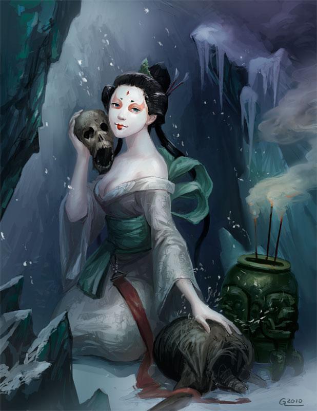 Snow Spirit by Nightblue-art