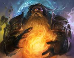Arvos Jadestone - Dwarf Shaman by Nightblue-art