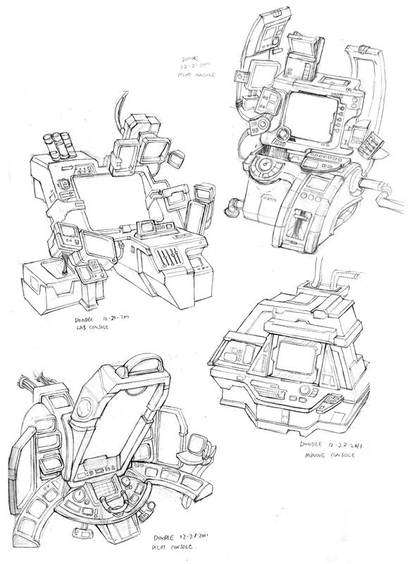 Consoles sketch by Nightblue-art