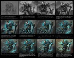 Elderguard Brennan - process by Nightblue-art