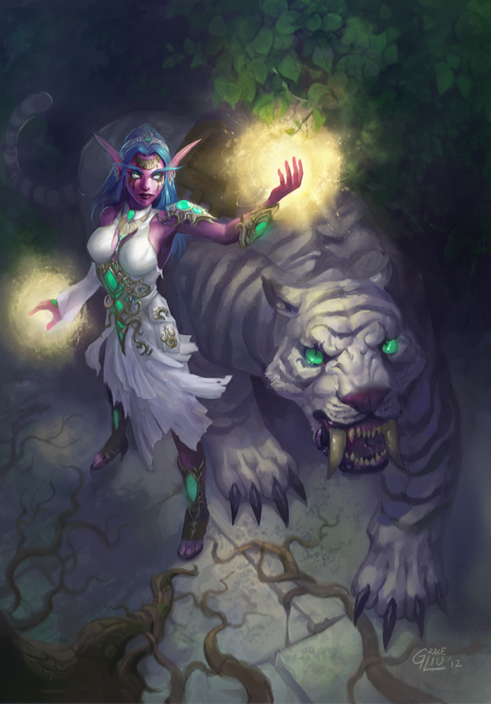 Tyrande by Nightblue-art