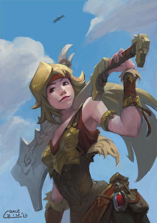 Galeria de Arte: Ficção & Fantasia 1 Adventuring_swordswoman_by_nightblue_art-d6tg3vc