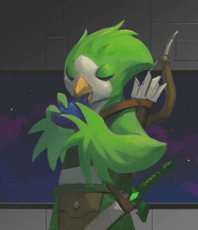 Avian Hero by Nightblue-art