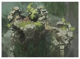 Summoner's Rift Fort Concept by Nightblue-art