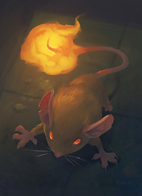 fire mouse by Nightblue-art