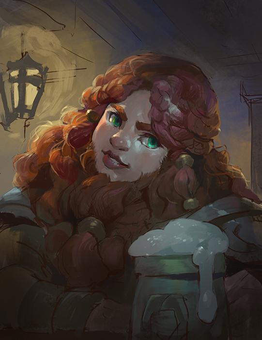 Bearded Dwarf Lady by Nightblue-art