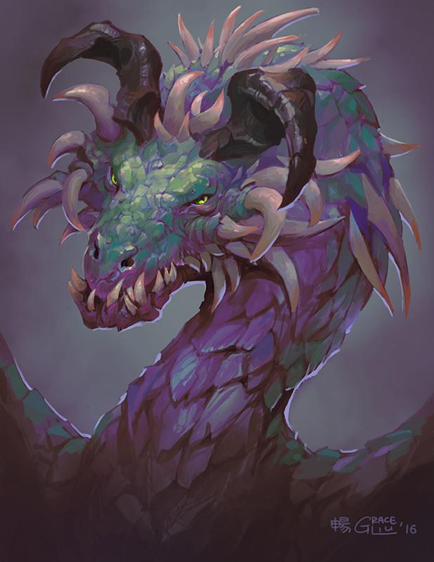 Poison Drake by Nightblue-art