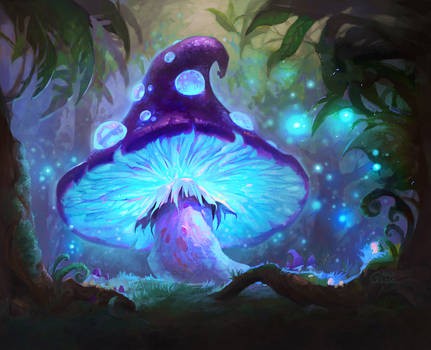 HearthStone Card - Evolving Spores by Nightblue-art