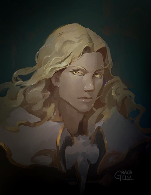 Alucard Fanart by Nightblue-art