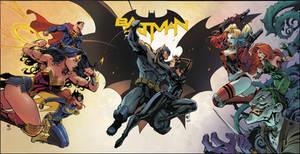 Joe Mad Batman Exclusive Cover Coloring
