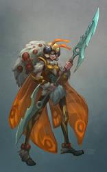 Moth Warrior by Nightblue-art