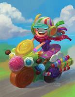Sweet Ride by Nightblue-art