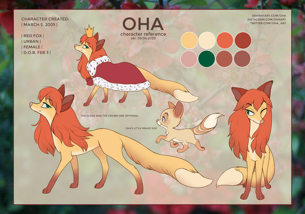 OHA reference sheet 2020