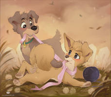 Not a pup, not yet a grownup... by Oha