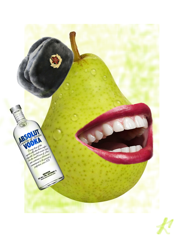 The biting pear from Mother Russia by Matrixador