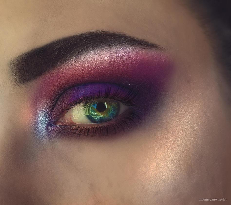 Purple Eye Look by MeganLeeRetouching