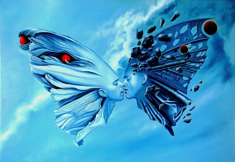 awakening ecstatic kiss by sivet-christophe